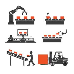 les avantages des robots sur une ligne de production
