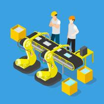 opération de manutention par des robots