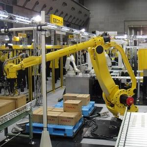 Palettisation robotisée avec un FANUC