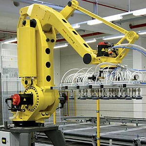 Robot fanuc sur une application de palettisation