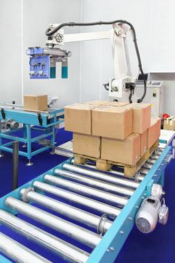 Application de palettisation robotisée